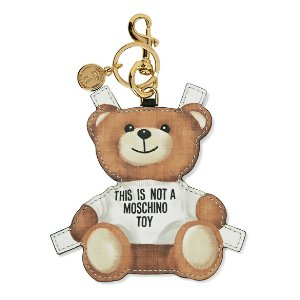 Moschino | Printed textured-leather keychain