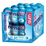 Mentos Gum Big Bottle Curvy, Pure Fresh Mint, (Pack of 6)