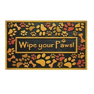 Outdoor Shoe Scraper Wipe Paws Doormat Recycled Rubber Large Patio Entryway