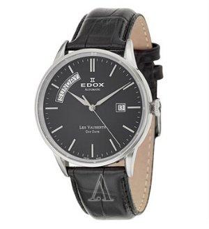 $279 Edox Men's Les Vauberts Day Date Automatic Watch 83007-3-NIN