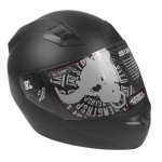 New Full Face Flat Black Speed & Strength SS1200 Helmet