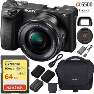 ILCE-6500 a6500 Mirrorless Camera +Lens Bundle