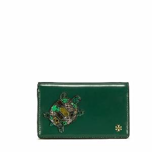Tory Burch Turtle Burch Medium Slim Wallet