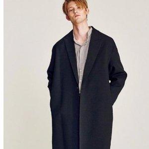 $183.00LIUNICK JAKE OVERFIT LONG COAT BLACK