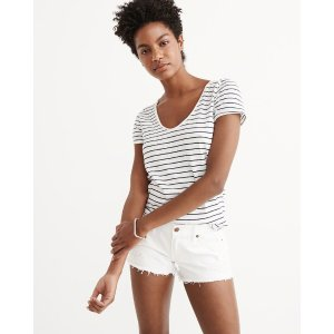 Womens Relaxed V-Neck Tee | Womens Summer Sale Styles | Abercrombie.com
