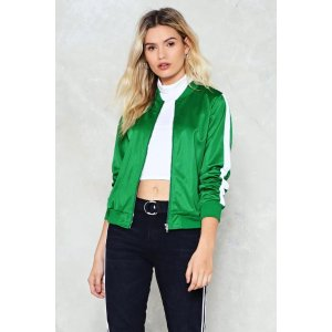 The Strong and Silent Stripe Bomber Jacket