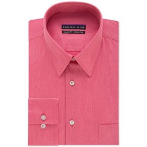 Geoffrey Beene Men's Big and Tall Classic-Fit Wrinkle Free Bedford Cord Solid Dress Shirt - Dress Shirts - Men - Macy's