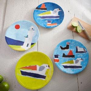 Maritime Melamine Plates | west elm