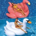 Swimline Swimming Pool Giant Swan + Flamingo