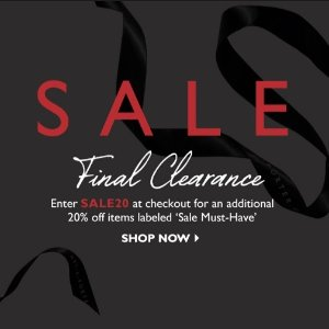 Up to 70% Off + Extra 20% Off Select ItemsFinal Clearance @ Net-A-Porter