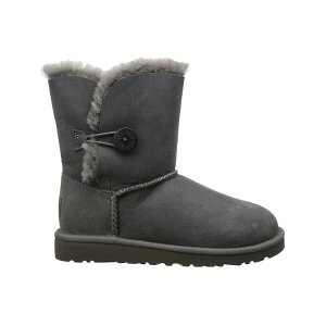 UGG® Gray Bailey Button Suede Boot - Kids | zulily