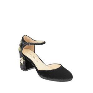 Flavia Velvet Ankle-Strap Pumps