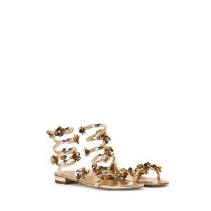 Santorini Metallic Wrap Sandal