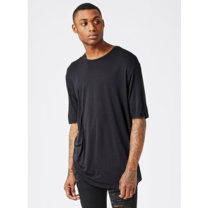 AAA Black Ruching T-Shirt - View All Clearance - Clearance - TOPMAN USA