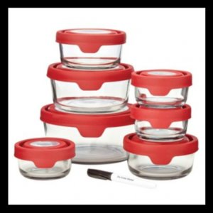 Anchor Hocking 15pc Premium Trueseal Red Storage Set - Friday Frenzy Sale - Sale
