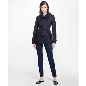 Cotton Twill Double-Breasted Trench Coat - Brooks Brothers