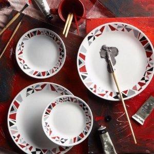 Corelle 16-Piece Livingware Mosaic Red Dinnerware Set - Walmart.com