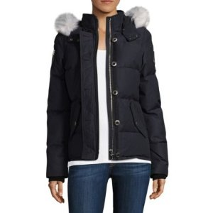 3Q Fox Fur-Trimmed Hooded Parka