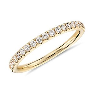 Pavé Diamond Ring in 18k Yellow Gold (1/2 ct. tw.) | Blue Nile