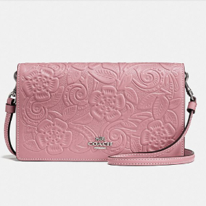 $187.50Foldover Crossbody Clutch In Glovetanned Leather With Tea Rose Tooling @ Coach