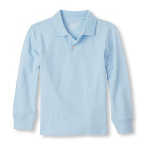 Boys Long Sleeve Solid Pique Polo   The Children's Place
