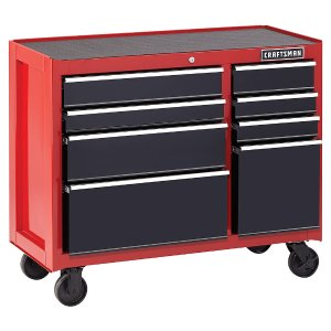 $179Craftsman 41-Inch 8-Drawer Heavy-Duty Ball-Bearing Rolling Cabinet