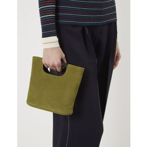 Moss Green Nubuck Mini Birch Tote | Simon Miller | Avenue32