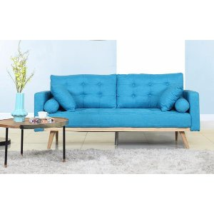 Henry Mid Century Modern Linen Sofa | Sofamania.com