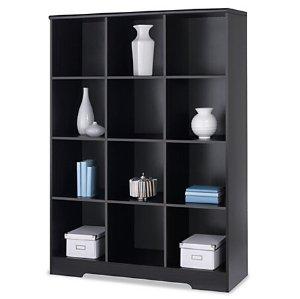Realspace Magellan 12-Cube Bookcase, Espresso
