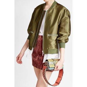 Laser-Cut Leather and Snakeskin Shoulder Bag - Burberry |