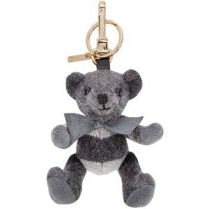 burberry 灰色小熊钥匙扣