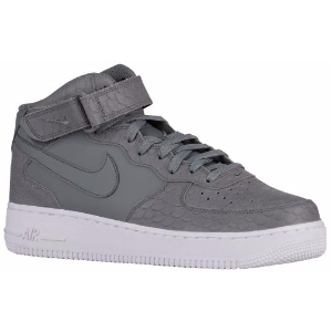 Nike Air Force 1 Mid - Men's - Basketball - Shoes - Cool Grey/White/Cool Grey