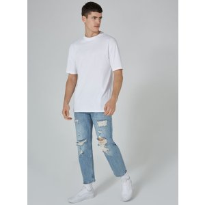 Light Wash Original Ripped Jeans - Jeans - Clothing - TOPMAN USA