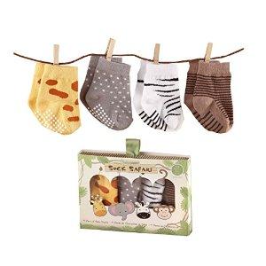 Amazon.com: Baby Aspen, Sock Safari Four-Pair Animal-Themed Socks Set, 0-6 Months: Baby