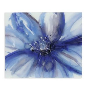 Indigo Floral Framed Wall Art