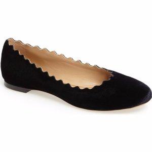 Chloé Lauren Scalloped Ballet Flat (Women)   Nordstrom
