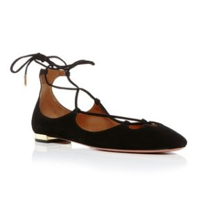 Dancer Lace Up Flats by Aquazzura