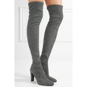 Stuart Weitzman Highstreet stretch-suede over-the-knee boots