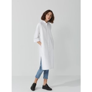 The Roslyn Oxford Shirt-Dress in Bright White | Frank And Oak
