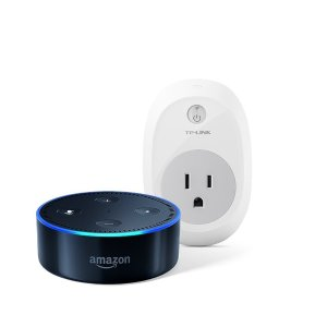 低至$29.99+$5收TP-Link智能插座黑五价再现:Amazon Echo Dot Alexa语音助手蓝牙音箱 2代 + TP-Link智能插座