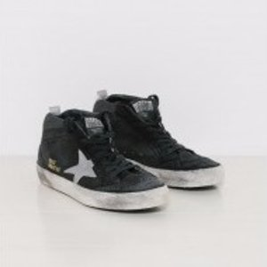 Golden Goose Sneakers Midstar in Black and Silver