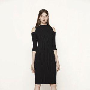 ROSACE Close-fitting off the shoulder dress - Dresses - Maje.com