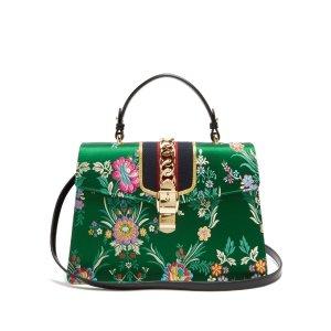 Sylvie floral-jacquard shoulder bag | Gucc