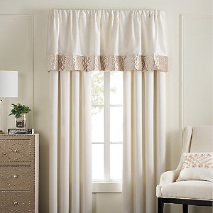 Pearl Stripe Window Curtain Panel Pair and Valance - Bed Bath & Beyond