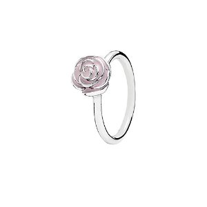 PANDORA Silver Enamel Rose Garden Ring