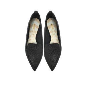 Nicholas Kirkwood Beya Black Tumbled Leather Loafer