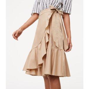 Ruffled Wrap Skirt | LOFT