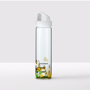 You Are Here Collection Water Bottle - Wisconsin