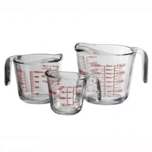Anchor Hocking 3 Piece Measuring Cup Set