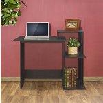 Furinno Efficient Computer Desk, Espresso/Black